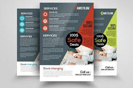 accounting business firm flyer flyer templates creative market