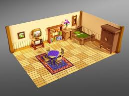 Home Design Studio 3d Objects by 3d Model Cartoon House Interior Cgtrader
