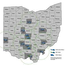 Coshocton Ohio Map by Medflight Air And Ground Critical Care Transportation