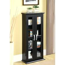 glass door cabinet walmart black storage cabinet 2 glass doors modern elegant wood dvd games