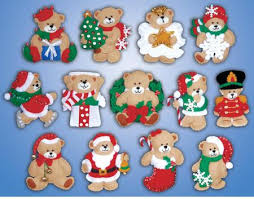 design works lots of bears ornaments felt applique kit