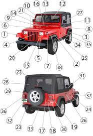 oem jeep wrangler parts jeep wrangler yj exterior parts 87 95 quadratec