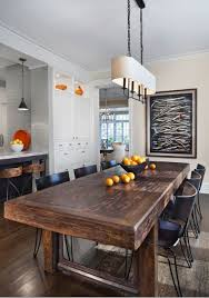 Rustic Dining Tables With Benches Best 25 Modern Rustic Dining Table Ideas On Pinterest Chairs