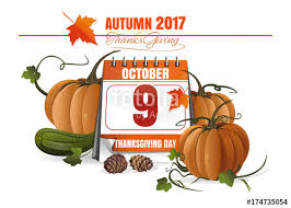 canadian thanksgiving day 2017 october 9 festive date in the