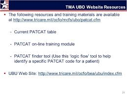 tricare episode of care table how to assign and use patient categories patcats ppt video