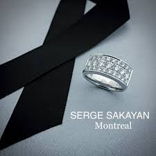 wedding band montreal serge sakayan design 1 1 3 carat diamond fashion wedding band