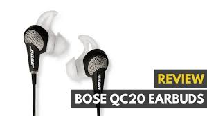 Bose Quiet Comfort 20 Headphones Bose Qc 20 Noise Cancelling In Ear Headphone Review