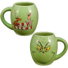 merry grinchmas grinch oval holiday coffee mug cartoon character