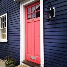Paint The House Navy And Coral Charming Color Combination For An Exterior