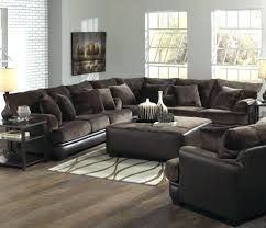 Small Leather Sofa Ashley Leather Sofa And Loveseat Brown With Fabric Cushions Rooms