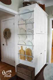 diy plate rack for a kitchen cheap and easy way to store and