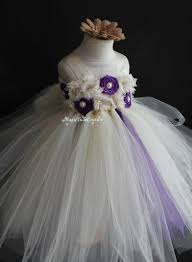 ivory and purple flower tutu dress wedding dress toddler