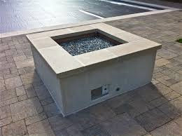 Natural Gas Fire Pit Kit Gas Fire Pit With Glass Rock San Diego Landscape
