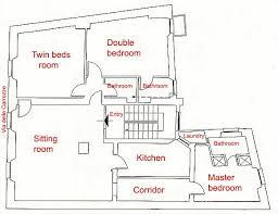 2 Room Flat Floor Plan Rome Spanish Steps Luxury Three Bedroom Three Bathroom Apartment
