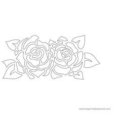 printable rose flower stencil stuff to make pinterest free