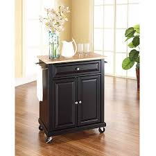 crosley furniture kitchen cart crosley furniture wood top portable kitchen cart walmart com
