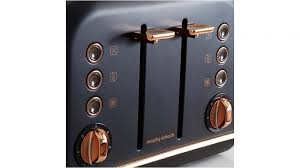 Morphy Richards Accents Toaster Morphy Richards Accents Rose Gold 4 Slices Toaster Black