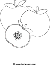 fall harvest coloring page apples printable sheet