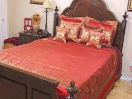 bollywood themed peacock bedding set u2013 decorative maroon gold zari