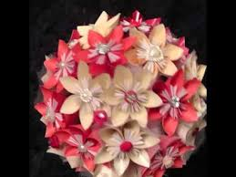 cara membuat origami kusudama my kusudama flower bouquet i made youtube