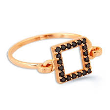 square rings jewelry images Trend square sterling silver ring dipped in rose gold novalux jpg