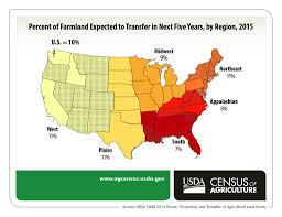 Map Of Northeast Region Of The United States by Who Owns U S Farmland And How Will It Change National