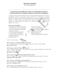 Cost Accounting Resume Chartered Accountant Resume Sample Free Resume Example And