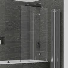 kudos inspire 6mm two panel in swing bath screen right hand