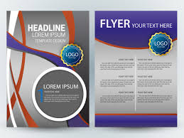 flyer template design with colorful curves grey background free