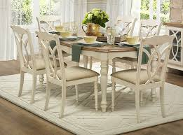natural wood kitchen table and chairs home elegance 5145w 78 7 pc azalea collection two tone natural and