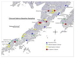 Alaska Rivers Map by Gene Conservation Laboratory Alaska Peninsula Chinook Project