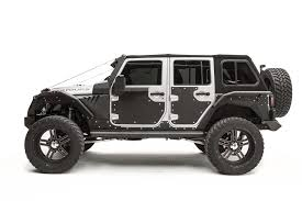 matte white jeep 2 door fab fours door skin armor for 07 17 jeep wrangler jk quadratec