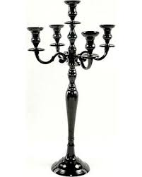 amazing deal on 32 inch black 5 branch candelabra for pillar and