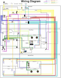 electrical schematic diagram for residential building circuit