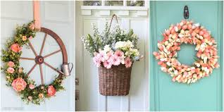 wreath ideas 14 diy summer wreath ideas outdoor front door wreaths for summer
