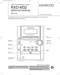 rxd m32 service manual hm 332 micro hifi component system