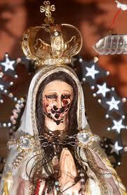 imágenes religiosas que lloran sangre imagen de virgen llora sangre en rechazo a la legalización del aborto