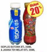 Teh Javana 350ml promo harga isoplus floridina javana minuman kesehatan terbaru