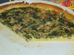 cuisiner les cotes de bettes quiche aux feuilles de blettes sans lactose sans gluten les