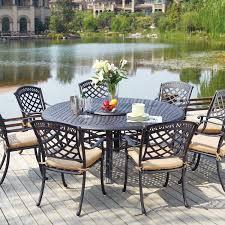 Patio Dining Set - darlee sedona 9 piece cast aluminum patio dining set with lazy