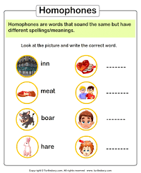 find the correct homophone of a word worksheet turtle diary