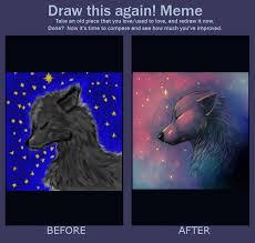 Meme Wolf - draw this again meme wolf in moonshine by smidgefish on deviantart