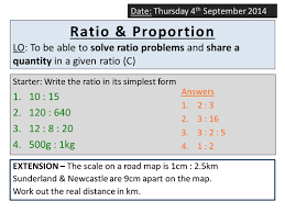 ks4 ratio sharing dividing in a quantity by ryangoldspink