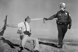 John Pike Meme - john pike in spain as shot by robert capa casually pepper spray