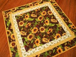 quilted square table toppers sunflower table topper quilted square table topper with golden
