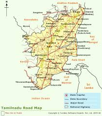 tamil nadu map tamilnadu road map map tamilnadu road india