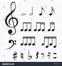 set music notes vector illustration isolated stock vector