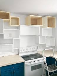 how to make your own kitchen cabinets step by step how to turn simple wood boxes into striking open shelving