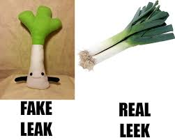 Leek Meme - fake leak real leak off topic killer instinct forums