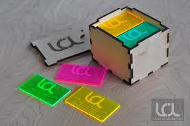 laser cut business cards laser engraved fluorescent neon acrylic business cardslaser